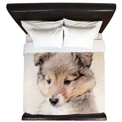 Shetland Sheepdog Puppy King Duvet