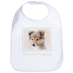 Shetland Sheepdog Puppy Cotton Baby Bib
