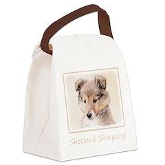 Shetland Sheepdog Puppy Canvas Lunch Bag