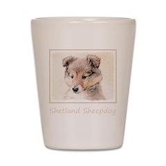 Shetland Sheepdog Puppy Shot Glass