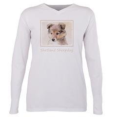 Shetland Sheepdog Puppy Plus Size Long Sleeve Tee