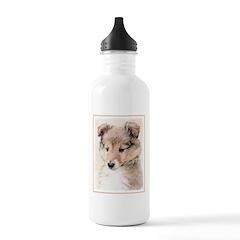 Shetland Sheepdog Pupp Water Bottle