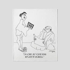 1186_abacus_cartoon Throw Blanket