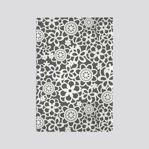 floral_lace_pattern_journal Rectangle Magnet