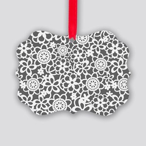 floral_lace_pattern_toiletry Picture Ornament