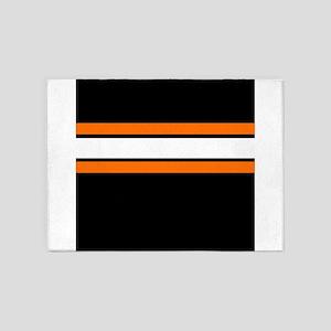 Team Colors 2...Orange,white and bl 5'x7'Area Rug