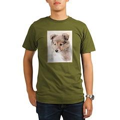 Shetland Sheepdog Pup Organic Men's T-Shirt (dark)