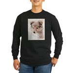 Shetland Sheepdog Puppy Long Sleeve Dark T-Shirt
