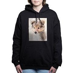 Shetland Sheepdog Puppy Women's Hooded Sweatshirt