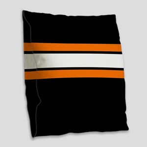 Team Colors 2...Orange,white a Burlap Throw Pillow