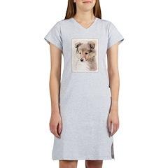 Shetland Sheepdog Puppy Women's Nightshirt