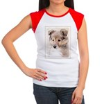 Shetland Sheepdog Pupp Junior's Cap Sleeve T-Shirt