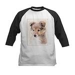 Shetland Sheepdog Puppy Kids Baseball Tee