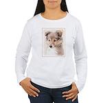 Shetland Sheepdog Pupp Women's Long Sleeve T-Shirt