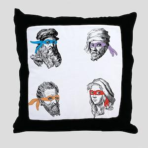 ninjapolymathsDARK Throw Pillow
