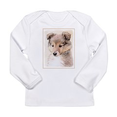 Shetland Sheepdog Puppy Long Sleeve Infant T-Shirt
