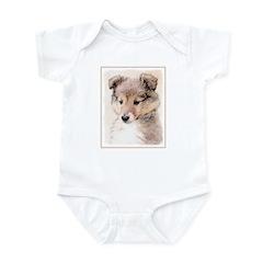 Shetland Sheepdog Puppy Baby Light Bodysuit