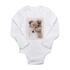 Shetland Sheepdog Pupp Long Sleeve Infant Bodysuit