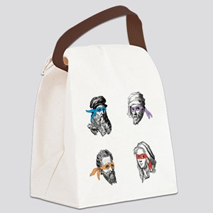 ninjapolymathsDARK Canvas Lunch Bag