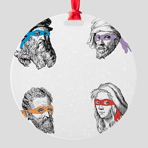 ninjapolymathsDARK Round Ornament