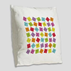 periodic_sq_1 Burlap Throw Pillow