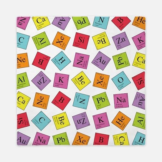 Periodic table bedding cafepress periodicsq1g queen duvet urtaz Image collections