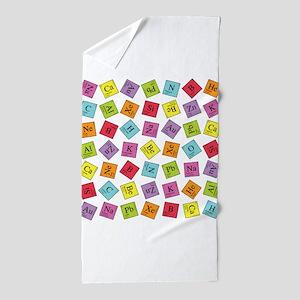 periodic_sq_1 Beach Towel