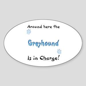 Greyhound Charge Oval Sticker