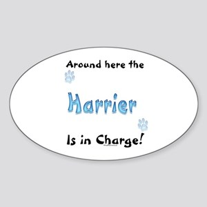 Harrier Charge Oval Sticker