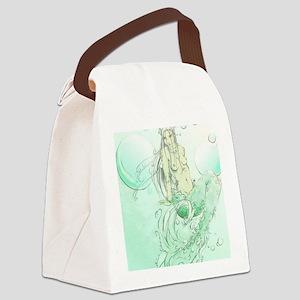 Color Mermaid 3 Canvas Lunch Bag
