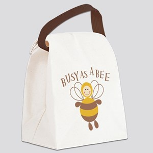 busyasabee2 Canvas Lunch Bag
