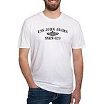 USS JOHN ADAMS Fitted T-Shirt