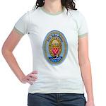 USS JOHN ADAMS Jr. Ringer T-Shirt