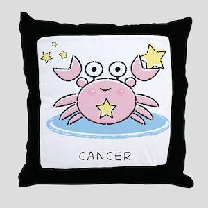 kidszodiaccancer Throw Pillow