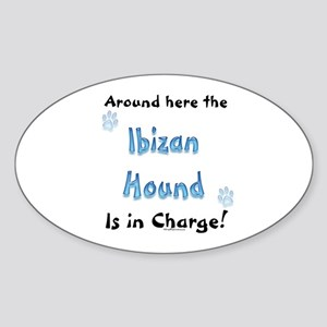 Ibizan Charge Oval Sticker