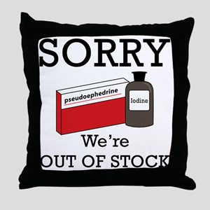 Out-Of-Stock Throw Pillow