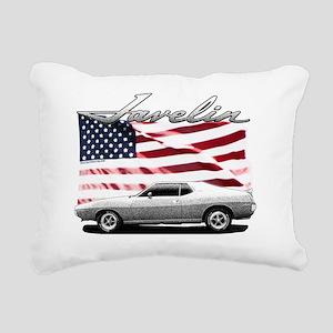 AMC AMX Javelin on USA f Rectangular Canvas Pillow