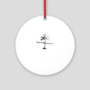 Poundsservices001white Round Ornament