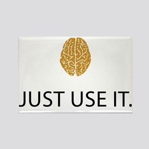 Just Use It (Brain) Rectangle Magnet