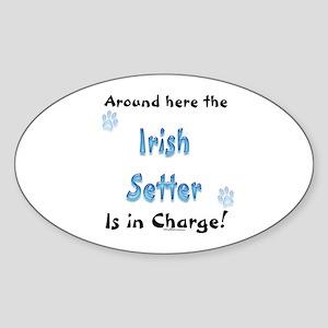 Irish Setter Charge Oval Sticker