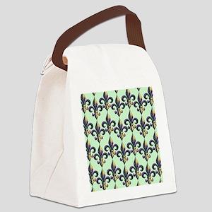 FleurMGbeadsPgBFlipf Canvas Lunch Bag