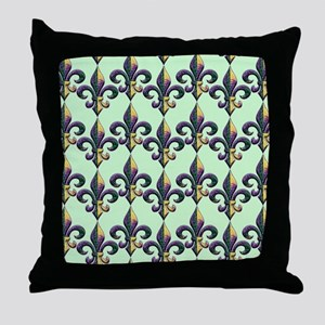 FleurMGbeadsPgBFlipf Throw Pillow