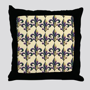 FleurMGbeadsGpBFlipf Throw Pillow