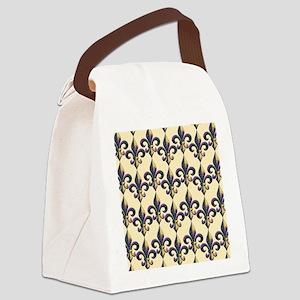 FleurMGbeadsGpBFlipf Canvas Lunch Bag