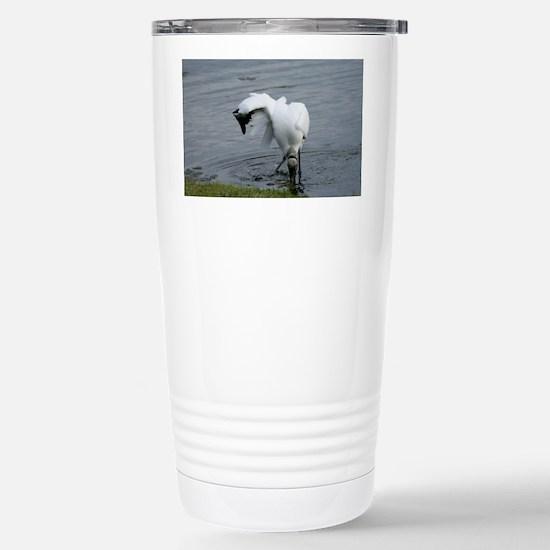 Wood Stork Stainless Steel Travel Mug