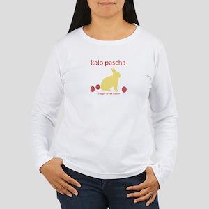 """""""HAPPY GREEK EASTER"""" Women's Long Sleeve T-Shirt"""
