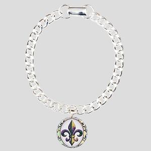 FleurMGbeadsOfPc460ip Charm Bracelet, One Charm