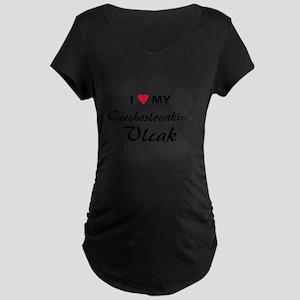 czechoslovakian-vlcak Maternity Dark T-Shirt