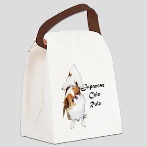 NO-HeartStormy Canvas Lunch Bag