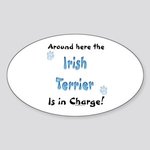 Irish Terrier Charge Oval Sticker